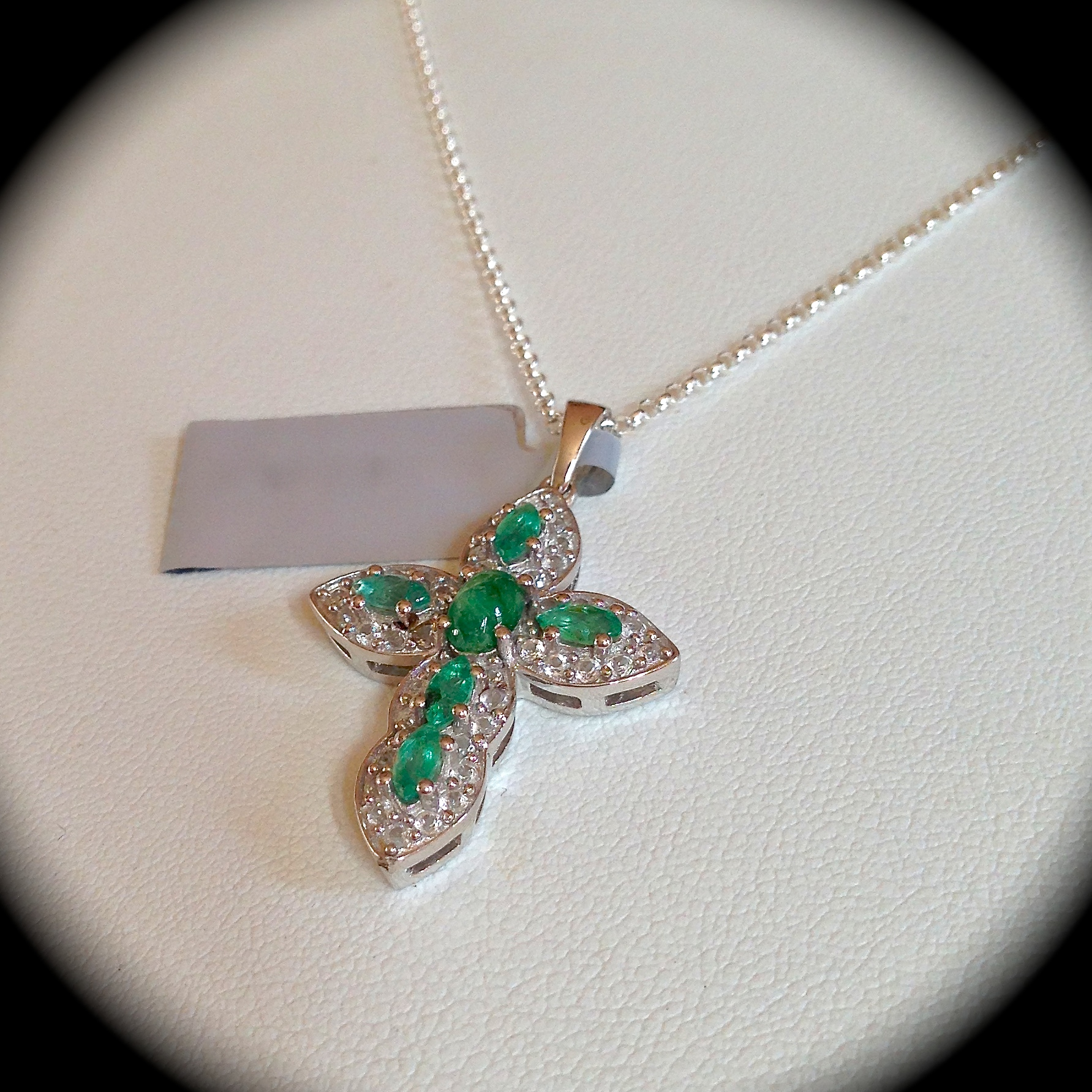 necklace shot emerald pendant colombian cluster screen pm aaa natural at gold diamond products