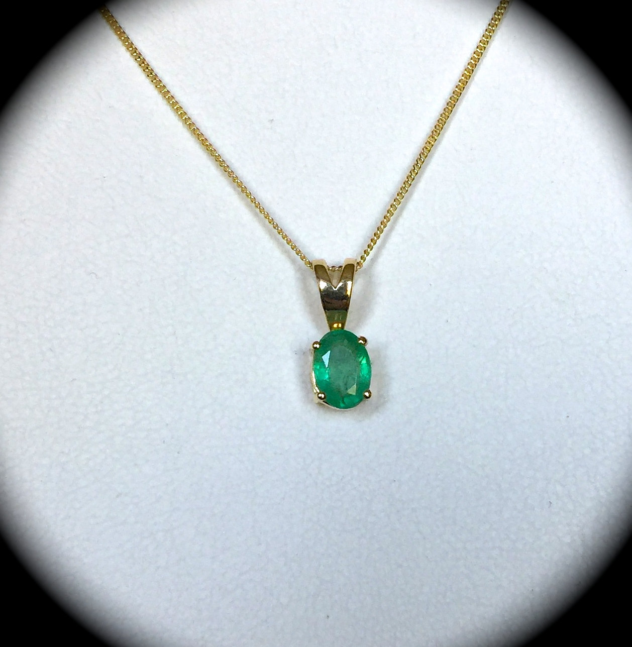 diamond natural en necklace kay white pendant and gold journey kaystore zm emerald mv