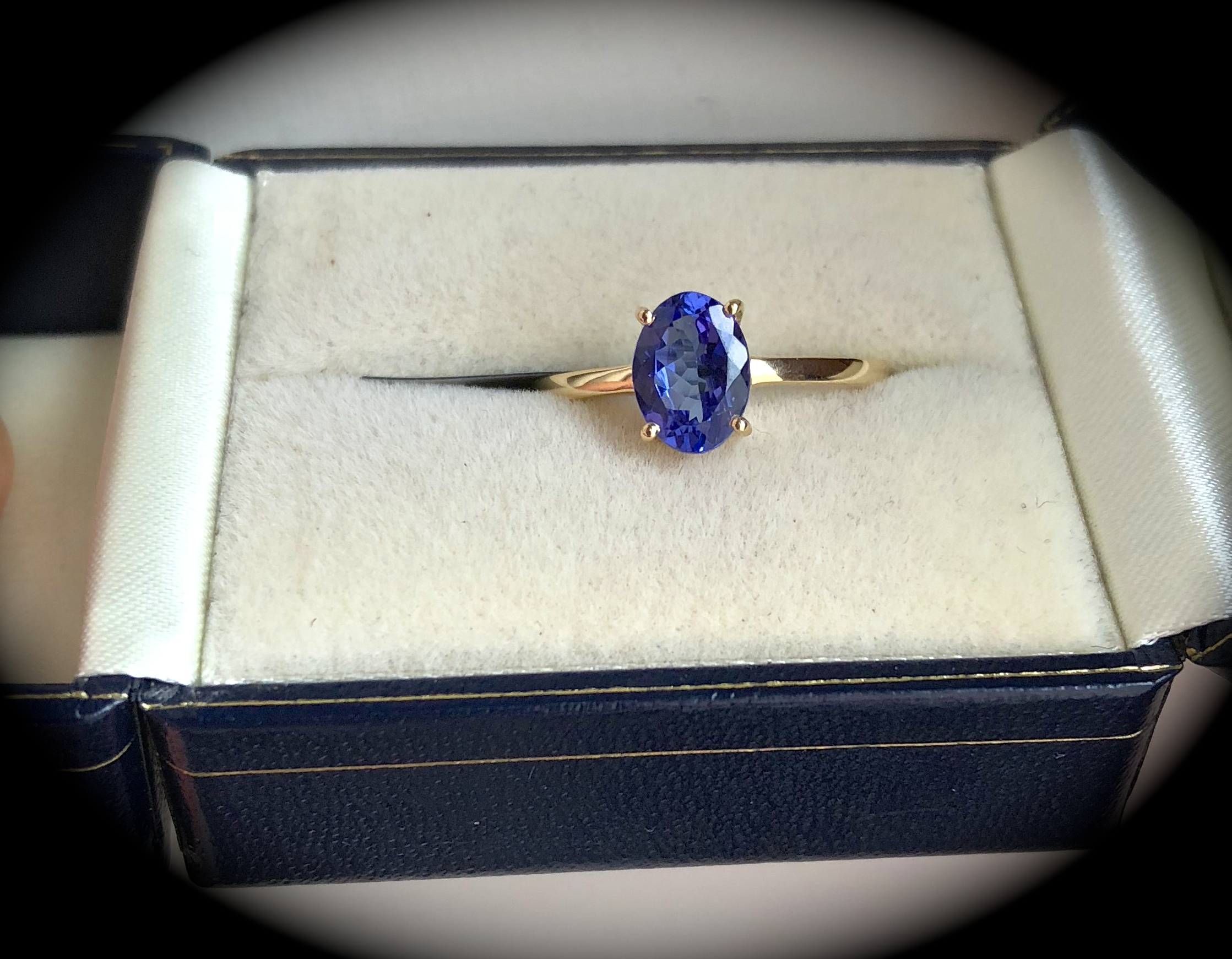 grade certified tanzanite engagement gold halo gia investment double white diamond vaa ring