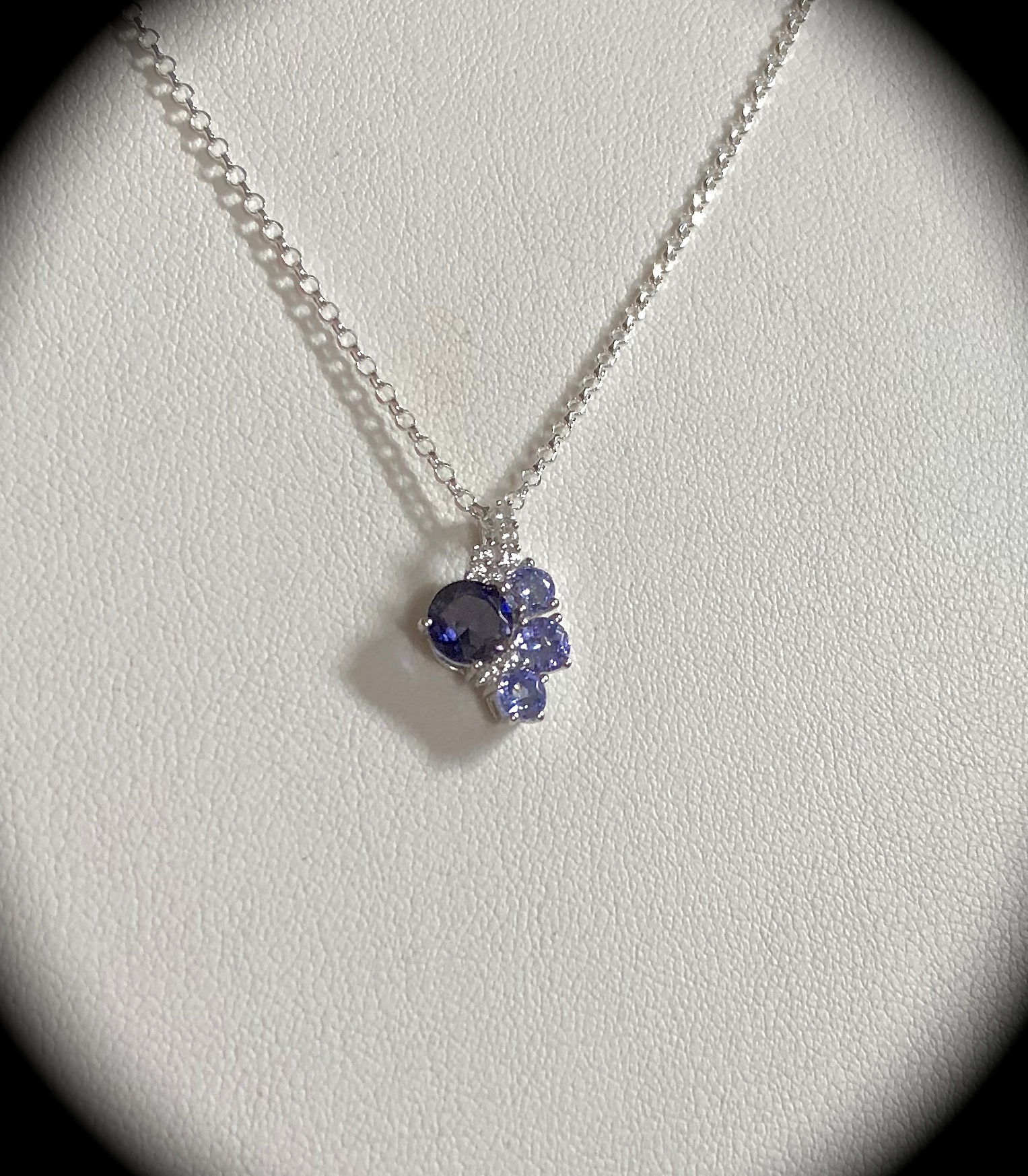 gemstones oval product pendant diamond richland tanzanite deco ct